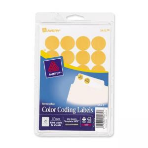 Avery Round Color Coding Labels - 1008 / Pack - Orange