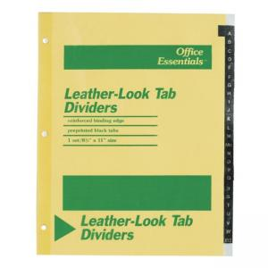 Avery A-Z Leather-Look Tab Dividers - 1 Set