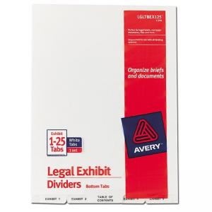 Avery Bottom Tab Legal Exhibit Divider - 1 / Set - Clear
