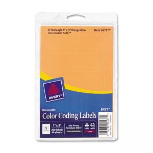 Avery Color Coding Multipurpose Labels - 200 / Pack - Orange