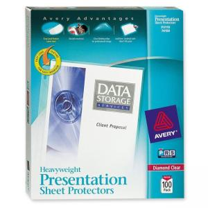 Avery Diamond Clear Top Loading Sheet Protector - 100 / Box