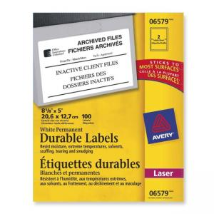 "Avery Durable ID Label - 5"" Width x 8.13"" Length"