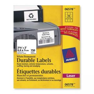 "Avery Durable ID Label - 8.50"" Width x 11"" Length"