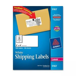 Avery Easy Peel Address Label- 1000 / Box - Bright White