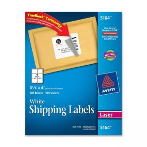 Avery Easy Peel Address Label - 600 / Box - Bright White