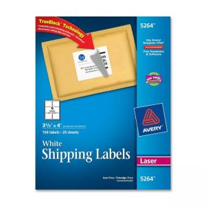 Avery Easy Peel Mailing Labels - 150 / Box - White