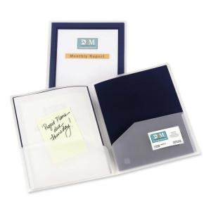 Avery Flexi-View Presentation Two Pocket Folder - Navy Blue