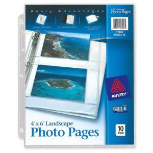 "Avery Horizontal Photo Pages - 6"" Height x 4"" Width - Photo"