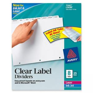 Avery Index Maker Clear Label Divider - 12 x Tab Print-on