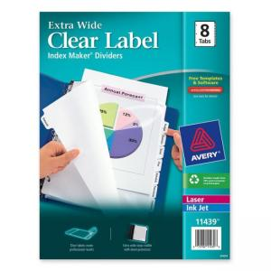 "Avery Index Maker Extra-Wide Tab Divider - 8 x Tab Blank - 9"" x 11"""