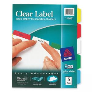 Avery Index Maker Label Divider with Color Tabs - 5 / Set