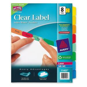 Avery Index Maker White Divider with Color Tabs - 8 / Set