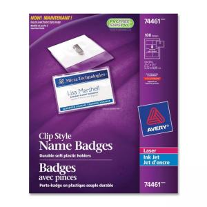 Avery 74461 Insertable Name Badges Kit  - White