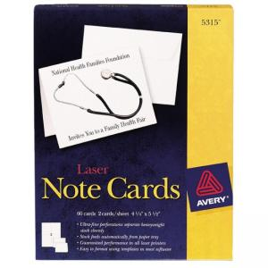 Avery Laser Note Card - White