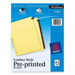 Avery Leather Tab Index Divider -  25 / Set - Buff