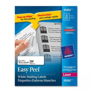 Avery Mailing Label - 350 / Pack - White