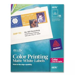 Avery Mailing Labels - 50 / Pack - White