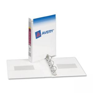 Avery 17116 Mini Durable View Ring Binder - Capacity - White