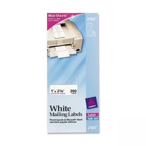 Avery Mini-Sheet Labels - 200 / Pack - Bright White