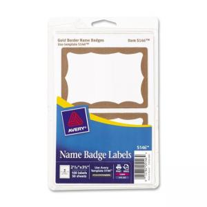 Avery Name Badge Labels - 100 / Pack