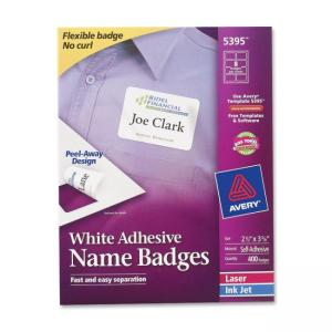 Avery Name Badge Labels - 400 / Box - White