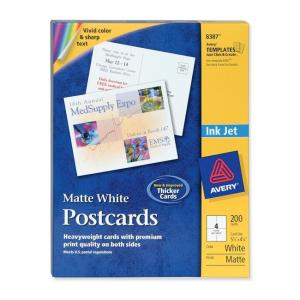 "Avery Perforated Inkjet Postcards - 200 / Box - 5.50"" x 4.25"""