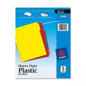 "Avery Plastic Tab Divider - 8.50"" Width x 11"" Length"