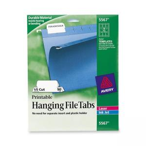 Avery Printable Hanging File Tab - 90 / Pack - White