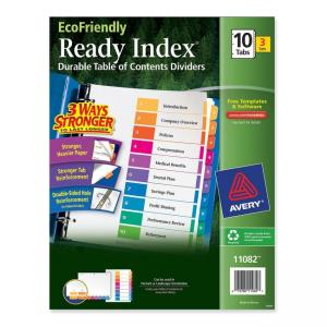 Avery Ready Index Table Of Contents Divider - 30 / Pack - Multicolor