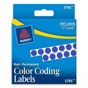 Avery Round Permanent Labels - 450 / Pack - Dark Blue