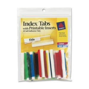 Avery Self-Adhesive Index Tabs With Printable Insert - 25 / Pack