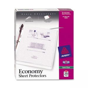 Avery Top Loading Sheet Protector - Semi clear