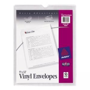 "Avery Top Thumb Notch Vinyl Envelopes - 9"" x 12"""