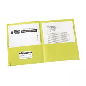 Avery Two Pocket Folder - Yellow