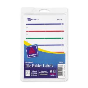 Avery Typewritten/Handwritten Filing Labels - Assorted Colors - 252 / Pack
