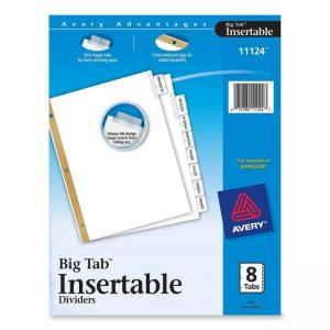 Avery WorkSaver Big Tab Insertable Tab Divider