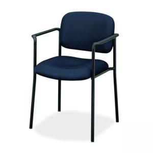 Basyx VL616 Guest Chairs With Arms Navy Blue - 1 Each