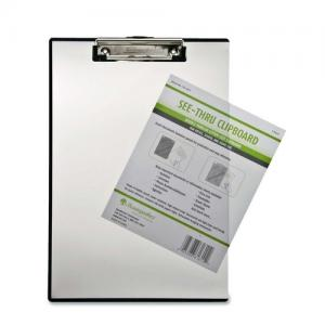 Baumgartens Double-Panel See-Thru Clipboard - Clear