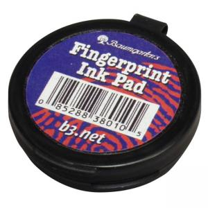 Baumgartens Fingerprint Ink Pad - Black - 1 Each