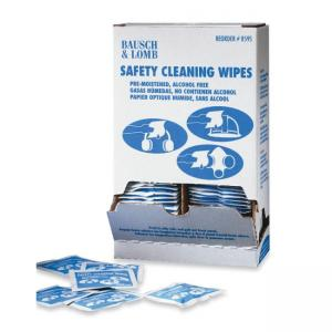 "Bausch and Lomb Premoistened Safety Cleaning Wipe - 8"" Width x 5"" Depth"