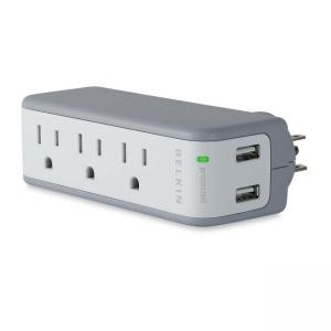 Belkin 5-Outlets Mini Surge Suppressors with USB Charger