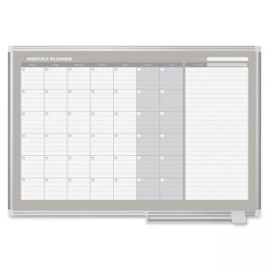 Bi-silque MasterVision 3 Magnetic Gold Monthly Planner - Monthly, Weekly, Daily - Wall Mountable (GA0597830)