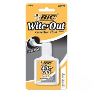 BIC Wite-Out Correction Fluid - White - 1 Pack