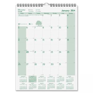 "Blueline Rediform Ecologix Monthly Wall Calendar (REDC171103) 12"" x 17"""