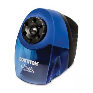 Bostitch Quiet Sharp 6 Classroom Pencil Sharpener - 1 Each - Black