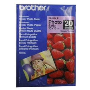 "Brother Premium Glossy Photo Paper - 4"" x 6"" - Glossy - 20 Sheet"