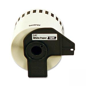 Brother Removable Continuous Length Paper Tape - 1 Roll - White