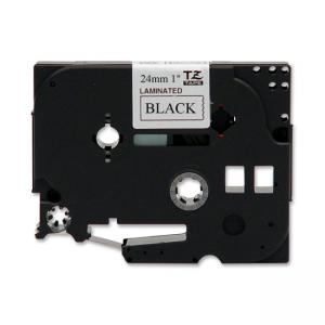 "Brother TZE251 Label Tape - 1"" Width x 26.20 ft Length - 1 Each - Black"