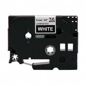 "Brother Label Tape - 0.25"" Width - 1 Each - White"