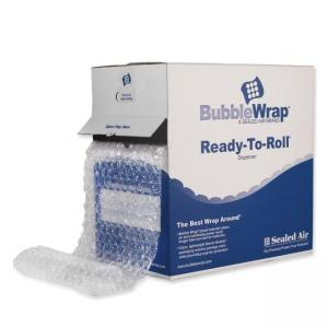 "Bubble Wrap Strong Grade Ready-to-Roll Dispenser - 12"" Width x 65 ft Length - Clear - 1 Carton"